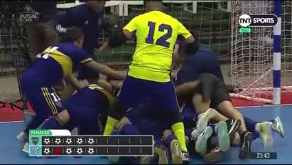 El penal con el que Boca ganó el título del Torneo Transición 2020 de futsal ante Kimberley