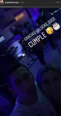 Angelito se animó al micrófono en su cumpleaños