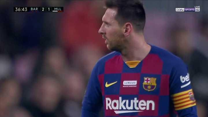Messi se cruzó con el DT de Mallorca
