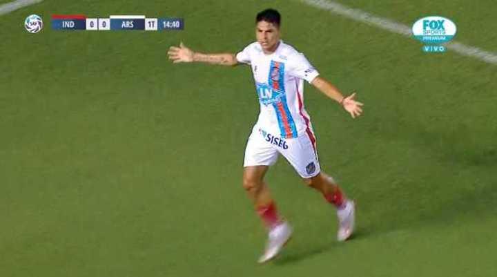Álvarez Suárez marcó el 1 a 0 del Arse