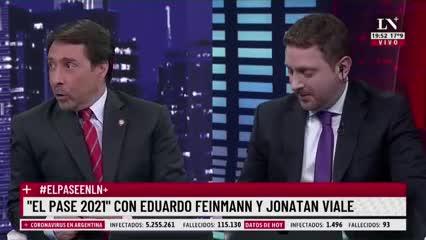 El cruce entre Jony Viale y Eduardo Feinmann por el Superclásico