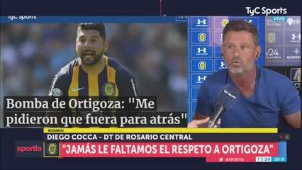 """Cocca: """"Ortigoza no tiene argumento porque no me conoce"""""""