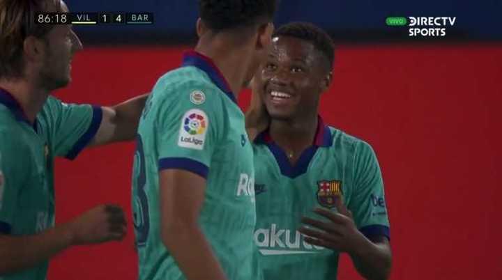 Ansu Fati marcó el cuarto del equipo culé