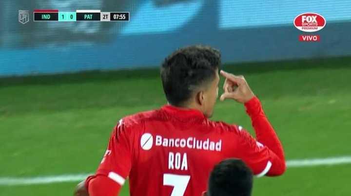 Roa marcó el primero del Rojo