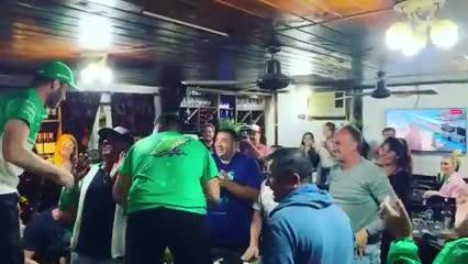 Así festejó Canapino