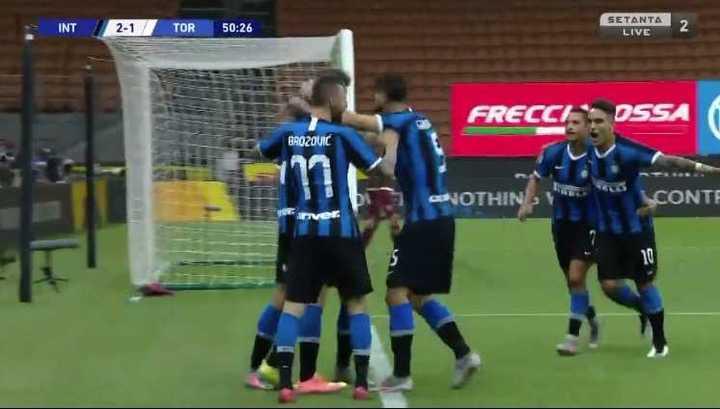 Godín hizo el segundo de Inter