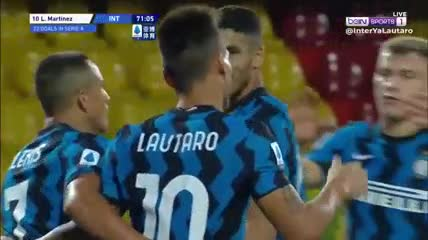 Lautaro entró y marcó el quinto gol del Inter