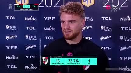 Beltrán y su primer gol en Primera