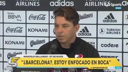 ¿Qué dijo Gallardo sobre el supuesto interés del Barcelona?