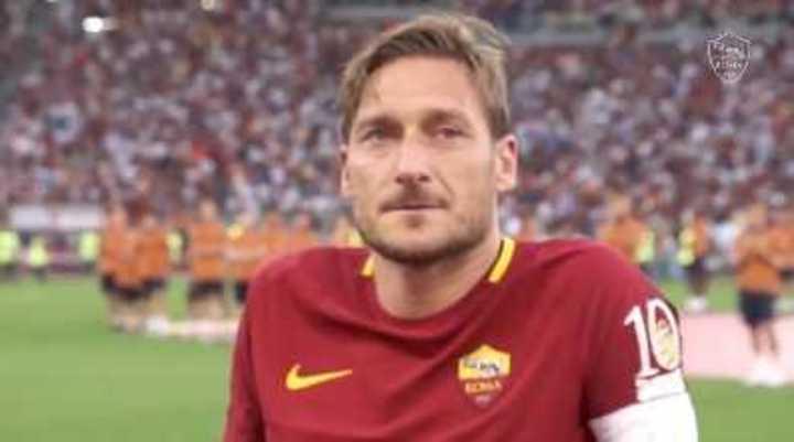 El último partido de Totti