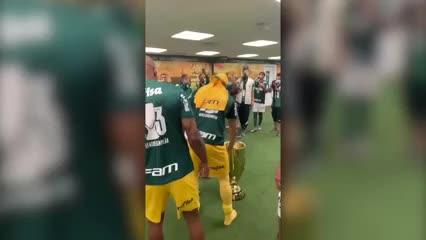 Los festejos del Palmeiras