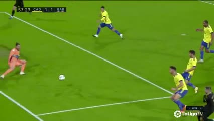 El resumen del Cádiz 2-1 Barcelona