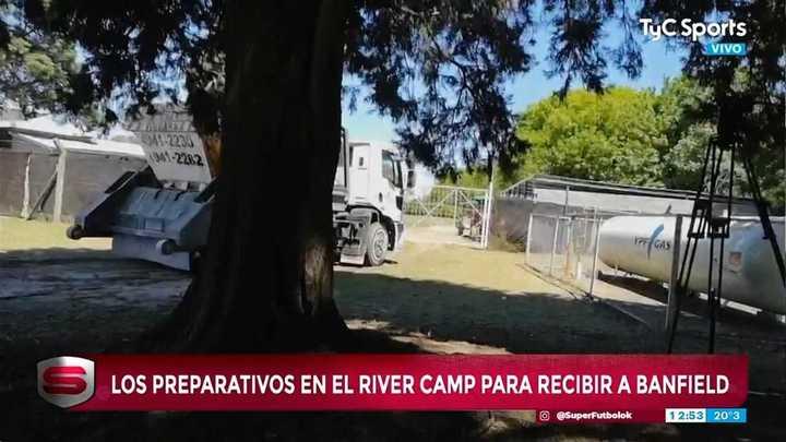 Siguen los trabajos de acondicionamiento en el River Camp.