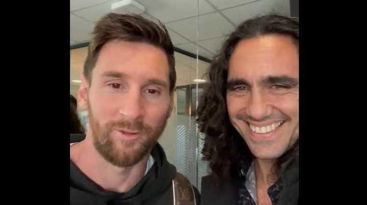 Sorin con Messi y Paredes
