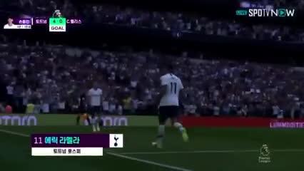 El gol de Erik Lamela en la goleada del Tottenham