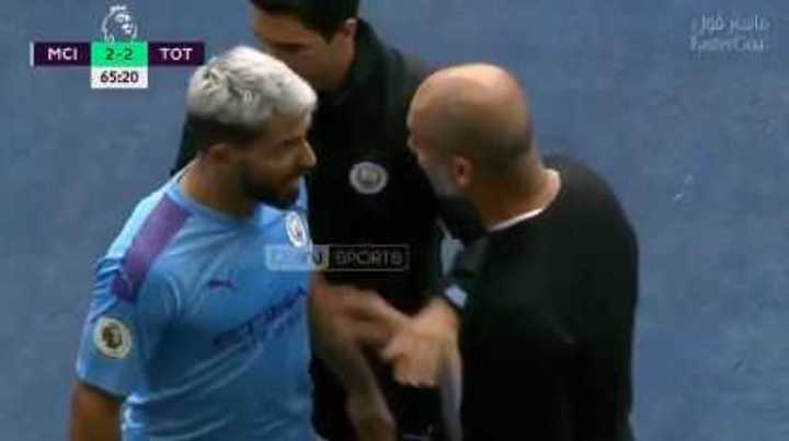 La fuerte discusión de Agüero con Guardiola