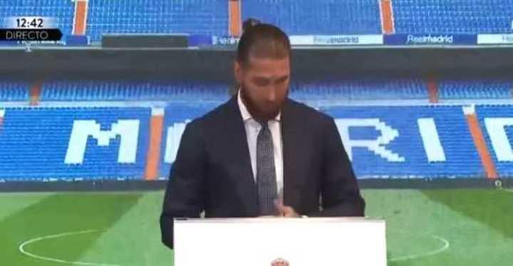 La emoción de Sergio Ramos en su despedida del Real Madrid