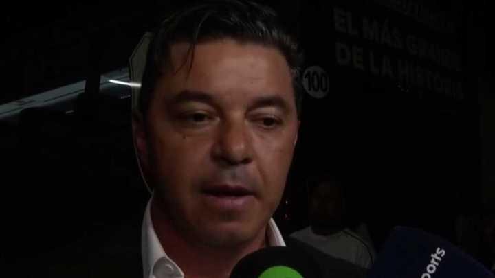 Gallardo habló luego del triunfo contra Independiente