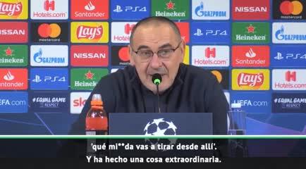 Sarri se refirió al gol de Dybala en conferencia.