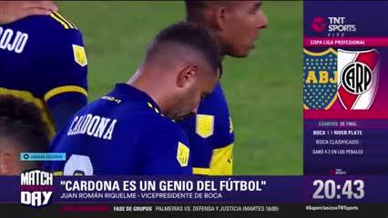 """Riquelme: """"Cardona es un genio del fútbol"""""""