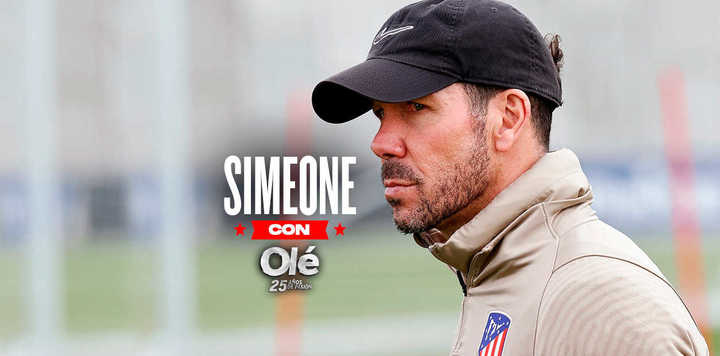 Simeone y cómo piensa en fútbol hasta cuando va al cine