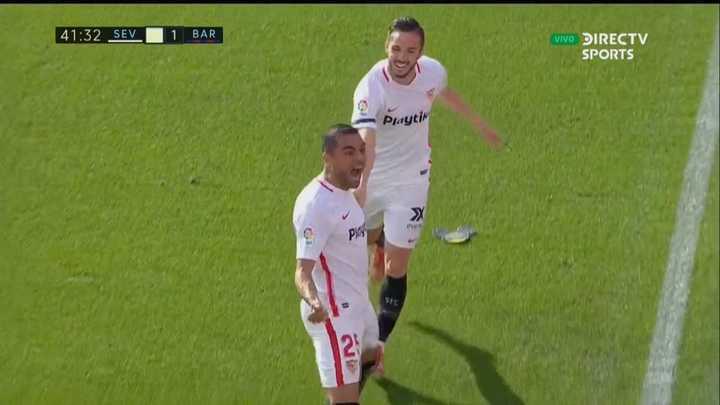 Mercado anotó el segundo del Sevilla y dio vuelta el partido
