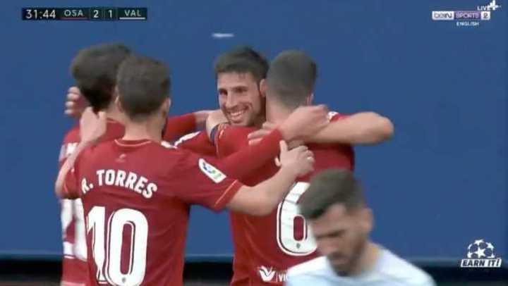 El gol de Calleri para Osasuna