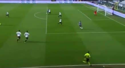 El primer gol de Gaich en Italia