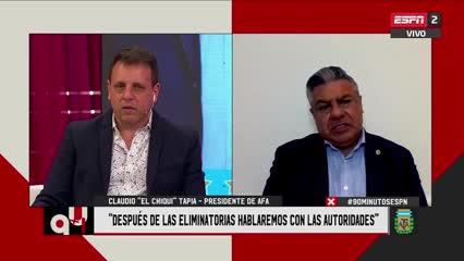 """Chiqui Tapia: """"Nos comunicamos con el representante de Guardiola"""""""