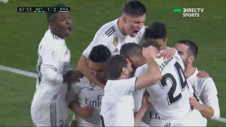 Dani Ceballos metió un golazo para la victoria Merengue