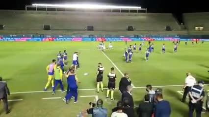 La reacción de Miguel Angel Russo ante el gol de Buffarini