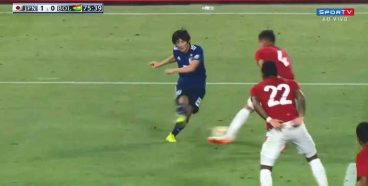 El gol de Japón ante Bolivia