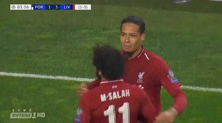 Van Dijk selló el 4 a 1 de Liverpool