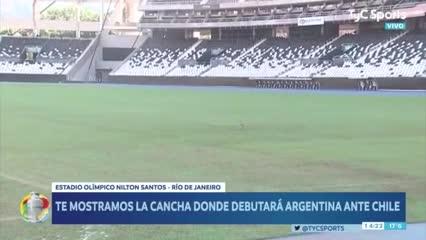 Así está la cancha donde jugará Argentina el próximo lunes