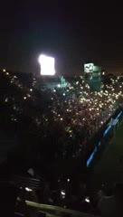 Los hinchas de River metieron fiesta en la oscuridad