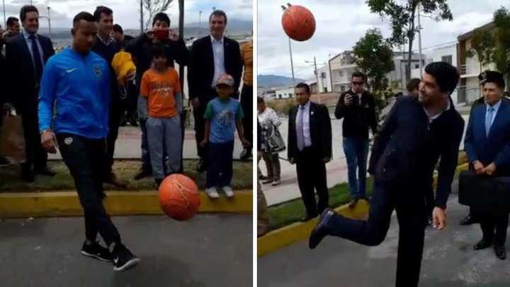 Villa hizo jueguitos con el vicepresidente de Ecuador, Otto Sonnenholzner