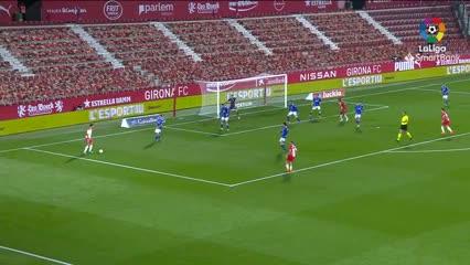 Resúmen Girona vs Real Oviedo. Asistencia Nahuel Bustos