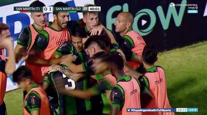 El gol que le dio la victoria a los sanjuaninos antes los tucumanos