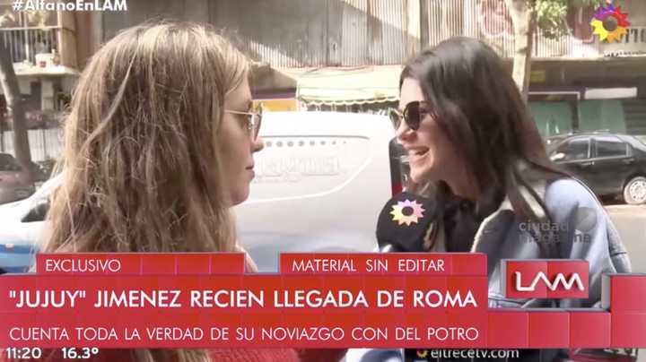 """""""Jujuy"""" Jiménez habló de su relación con Del Potro"""