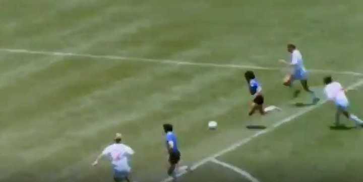 El gol de Diego a Inglaterra por Mauro Viale