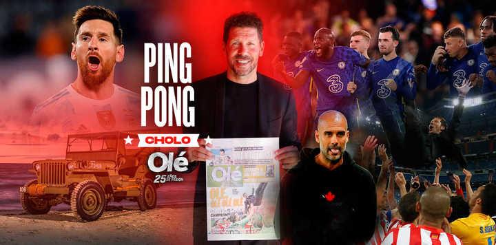 Simeone elige un jugador, un DT, un equipo en un ping pong imperdible