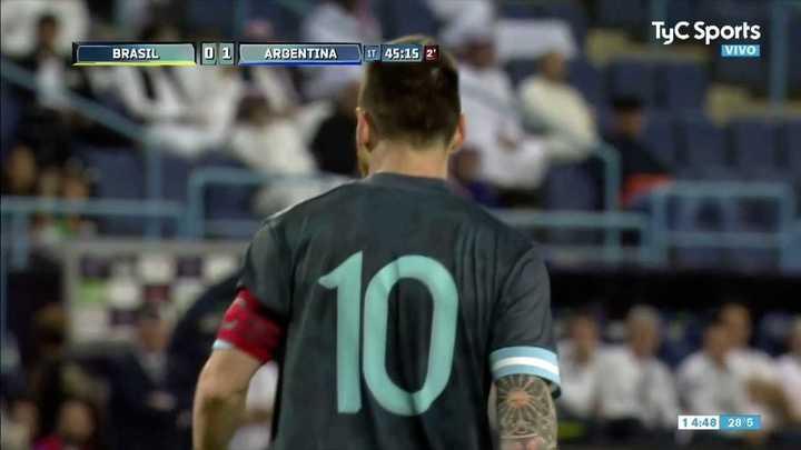 Messi tuvo el segundo