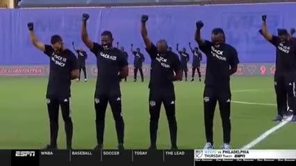 La protesta contra el racismo en la MLS