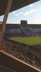 Corridas en la tribuna de Belgrano