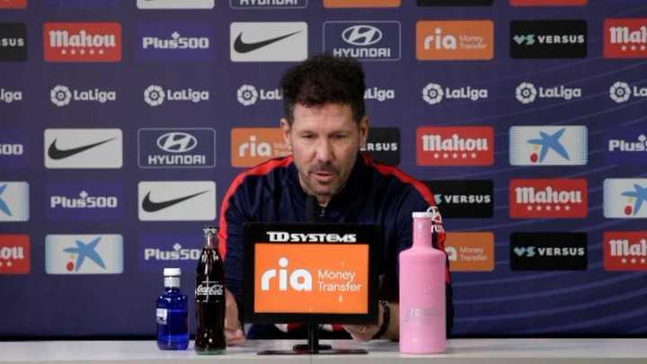Al Cholo le preguntaron si el Atlético podría ir por Messi en junio