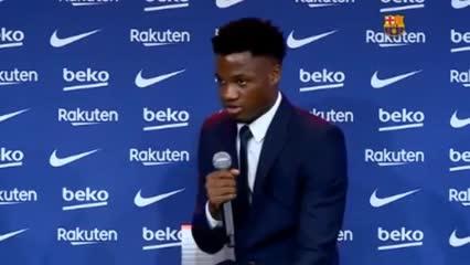Ansu Fati no quiso responder si habló con Messi por la 10