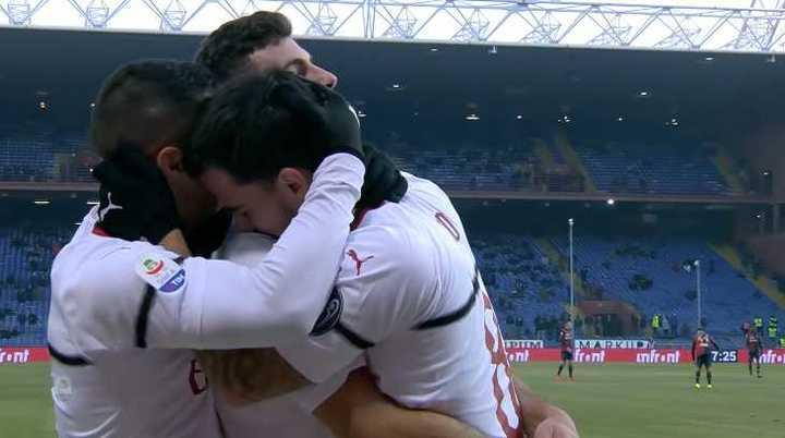 El Milan le ganó por 2 a 0 al Genoa