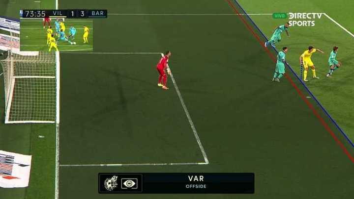 El VAR le anuló el gol a Messi