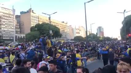 Incidentes en los festejos de Boca
