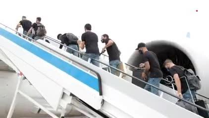 El Atlético de Madrid viajó rumbo a Lisboa